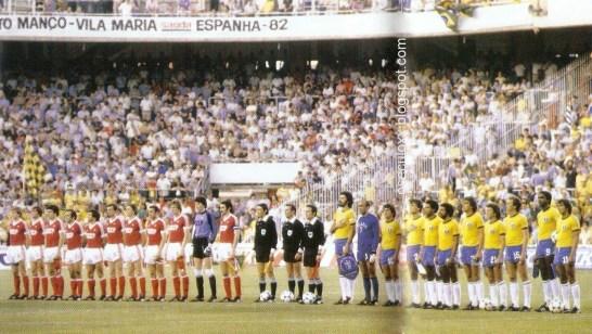 O Blog Memória XX registrou: O Brasil e a União Soviética, na Copa de 1982, se enfrentam em Sevilla