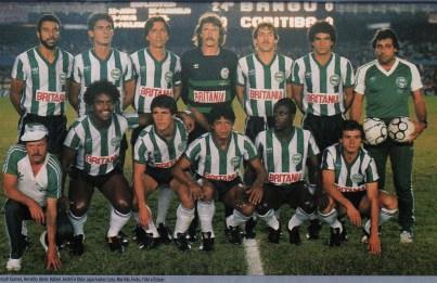 O Coritiba, Campeão Nacional de 1985. Duas etapas para repetir o feito dos anos 80.