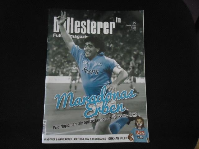 Revista Ballesterer da Áustria: Napoli de Diego é reportagem de capa.