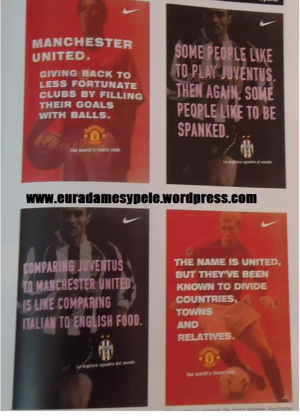 Manchester United x Juventus, em NY. Mais anúncios fodões !