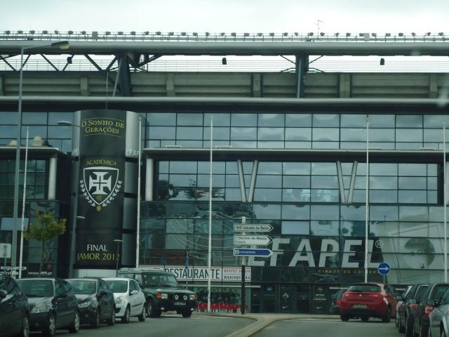 Hall de Entrada do moderníssimo Estádio EFAPEL. A estrutura do Académica me surpreendia muito positivamente.